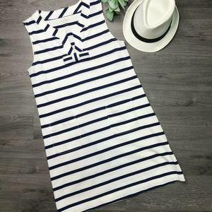 KATE SPADE | sz L white & navy stripe Tropez dress